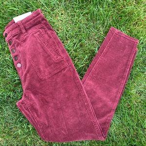NWT American Eagle Burgundy Curvy High Rise Jeans
